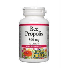 Natural Factors Bee Propolis Пчелен прополис за поддържане на добро здраве 500 мг х 90 капсули