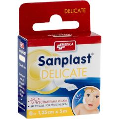 Medica Sanplast Delicate Пластир за чувствителна кожа 1.25 см x 5 м x1 брой