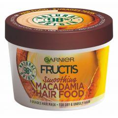 Garnier Fructis Macadamia Hair Food Изглаждаща маска за суха и непокорна коса с макадамия 390 мл