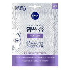 Nivea Cellular Filler Hyaluron 10-минутна лист маска за лице с хиалуронова киселина 1 бр