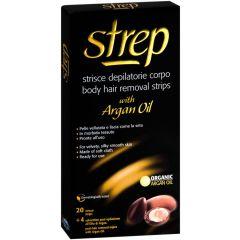 Strep Argan Депилиращи ленти за тяло с арганово масло 20 броя