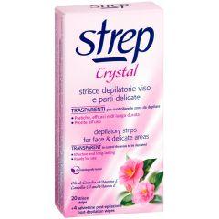 Strep Crystal Депилиращи ленти за лице и деликатни зони с камелия и витамин E 20 бр