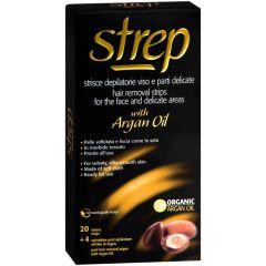 Strep Argan Депилиращи ленти за лице и деликатни зони с арганово масло 20 бр