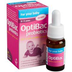 OptiBac Probiotics Baby Drops Пробиотик за бебета и деца 0-3 години  10 мл