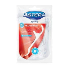 Astera Active Конци за зъби с клечка 20 бр Aroma