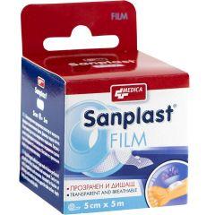 Medica Sanplast Film Водоустойчив прозрачен пластир 5 см x 5 м x1 бр