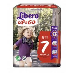Пелени - гащички Libero Up&Go Размер 7 16 бр