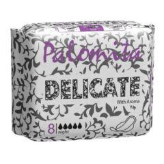 Palomita Delicate Нощни ароматизирани дамски превръзки 8 броя