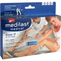 Medica Medilast Medical Компресивни чорапи 7/8 Клас 2 Размер M 1 бр