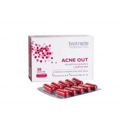 BiotradeAcne Out Хранителна добавка с бирена мая капсули х 30