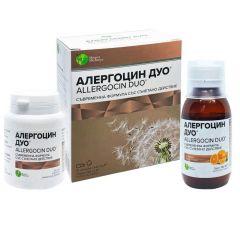 Алергоцин Дуо съвременна формула със съчетано действие 425 мг 20 капсули + сироп 100 мл Mirta Medicus