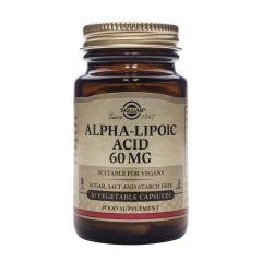 Solgar Alpha lipoic acid Алфа-липоева киселина силен антиоксидант 60 мг х30 капсули