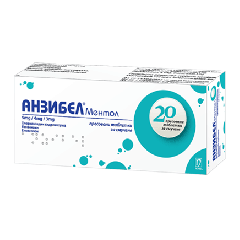 Анзибел ментол при възпаления на гърлото х 20 таблетки за смучене Nobel