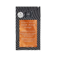 Apivita Express Beauty Ревитализираща маска за коса с портокал 20 мл