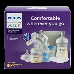 Начален комплект за кърмене с ръчна помпа за кърма Philips Avent Natural Motion  SCF430/16