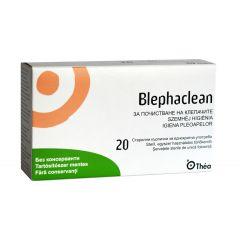 Blephaclean Кърпички с лосион за почистване на очи х 20 бр Laboratories THEA