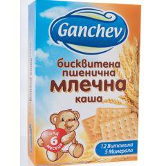 Ganchev Бисквитена пшенична млечна каша 6М+ 200 гр
