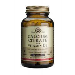 Solgar Calcium Citrate with Vitamin D3 Калциев Цитрат + Витамин D3 за здрави кости 250 мг х60 таблетки