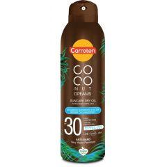 Carroten Coconut Dreams Слънцезащитно сухо олио за тяло с кокос SPF30 150 мл