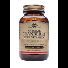 Solgar Natural Cranberry with Vitamin Червена боровинка с Витамин С предпазва от уринарни инфекции х60 капсули