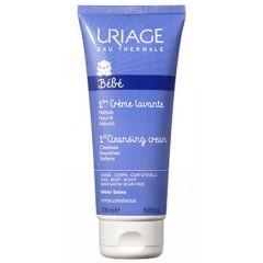 Uriage Bebe 1er Нежен пенлив душ-крем за бебета и деца за лице, тяло и коса 200 мл