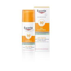 Eucerin Sun Oil Control Слънцезащитен гел-крем за лице за мазна и акнеична кожа SPF50+ 50 мл