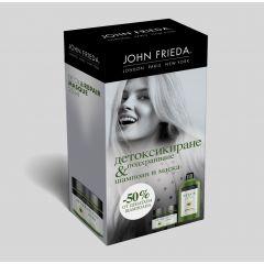 John Frieda Detox & Repair Детоксикиращ и възстановяващ шампоан за суха и увредена коса 250 мл + John Frieda Detox &Repair Интензивно подхранваща маска за суха и увредена коса 250 мл Комплект