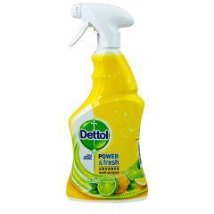 Dettol Power & Fresh Complete Cleanser Lemon Multipurpose Spray Антибактериален спрей за повърхности 500 мл