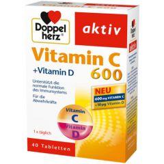 Doppelherz Допелхерц актив Витамин C 600 + Витамин D х40 таблетки