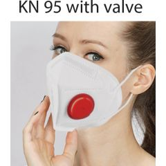 Медицинска маска FFP2 KN95 с клапа