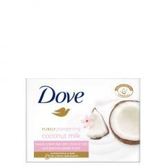 Dove Purely Pampering Подхранващ крем-сапун за ръце, лице и тяло с аромат на кокос и жасмин 100 гр