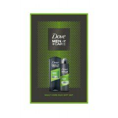 Dove Men+ Care Extra Fresh Дезодорант против изпотяване за мъже 150 мл + Dove Men+ Care Extra Fresh Подхранващ душ-гел за лице и тяло за мъже 250 мл Комплект