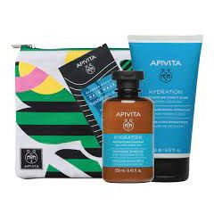 Apivita Хидратираща терапия за коса - шампоан 250 мл + балсам 150 мл + маска 20 мл + несесер Комплект