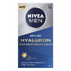 Nivea Men Active Age Hyaluron Крем за лице за мъже против бръчки SPF15 50 мл