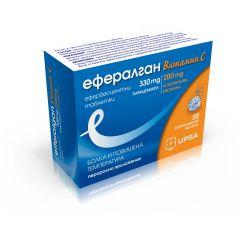 Ефералган Витамин C при болка и повишена температура х20 ефервесцентни таблетки UPSA