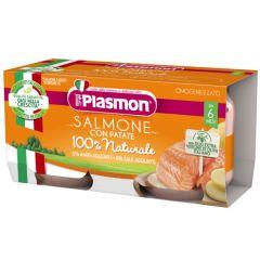 Plasmon Рибно меню сьомга с картофи за деца 6М+ 80 гр 2 бр