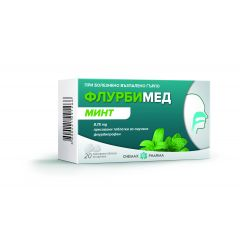 Флурбимед минт 8.75 мг таблетки за смучене х 20 Chemax Pharma