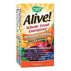 Nature's Way Alive Max Potency Алайв мултивитамини максимален ефект 1г х60 таблетки