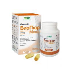 БиоПюр Макс Омега 3 за нормалното функциониране на сърцето, мозъка, зрението х 60 капсули Agetis