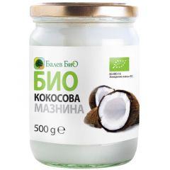 Био кокосова сурова мазнина 500 мл  Балев Био