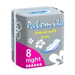 Palomita Thin&Soft Нощни дамски превръзки с крилца 8 бр
