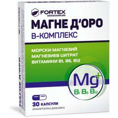 Fortex Магне Д'оро В-Kомплекс x30 капсули