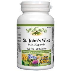 Natural Factors St. John's Wort Жълт кантарион подобрява настроението и съня 300 мг х 90 капсули