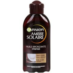 Garnier Ambre Solaire Подхранващо масло за бронзов тен с аромат на кокос 200 мл