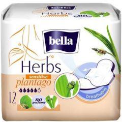 Bella Herbs Plantago Sensitive Дамски превръзки с крилца 12 бр