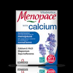Vitabiotics Menopase with Calcium за поддържане на хормоналния баланс и здрави кости в периода на менопауза x 60 таблетки