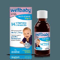 Vitabiotics Wellbaby Мултивитаминен сироп за бебета и деца от 6 месеца до 4 години 150 мл