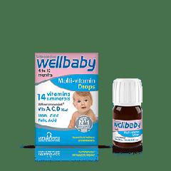 Vitabiotics Wellbaby Мултивитаминни капки за бебета от 4 до 12 месеца x 30 мл