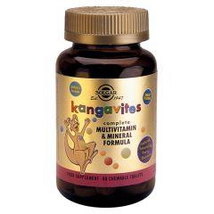 Solgar Kangavites Multivitamin & Mineral Formula Мултивитамини за деца с вкус на горски плодове х60 дъвчащи таблетки