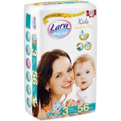 Пелени Lara Premium №3 5-9 кг х56 бр